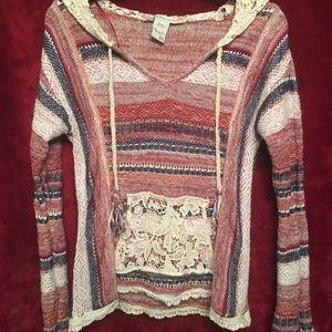 American Rag crocheted hoodie/ Never worn